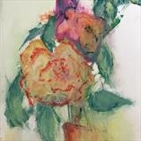 A rose by judith cockram, Painting, Oil on Paper