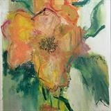 A single bloom by judith cockram, Painting, Oil on Paper