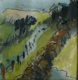 Dartmoor track 1 by judith cockram, Painting