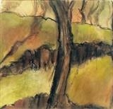 Dartmoor trees by judith cockram, Painting, Acrylic on paper