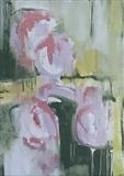 Roses 1 by judith cockram, Painting, Oil on Board