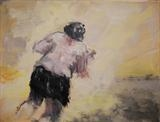 Slow Runner by judith cockram, Painting, Acrylic on paper
