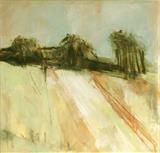 Suffolk Fields 1 by judith cockram, Painting, Mixed Media on paper