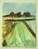 images of Suffolk 2 by judith cockram, Artist Print, hand painted collograph