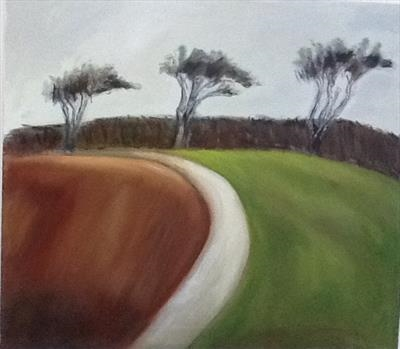 Towards Three Trees by judith cockram, Painting, Oil on canvas